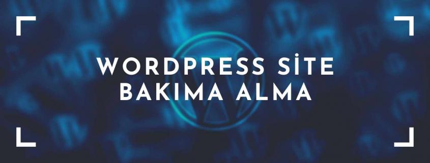 Wordpress Site Bakıma Alma