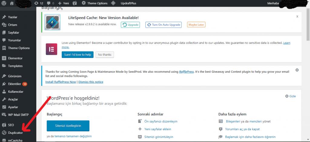 Wordpress Site Taşıma Nasıl Yapılır? 1