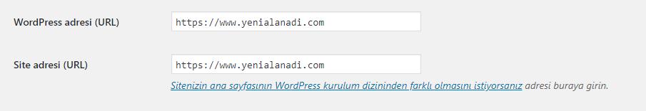 Wordpress Alan Adı Değişikliği Nasıl Yapılır? 2