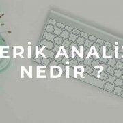 içerik analizi nedir ?