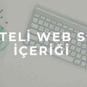 kaliteli web sitesi içeriği