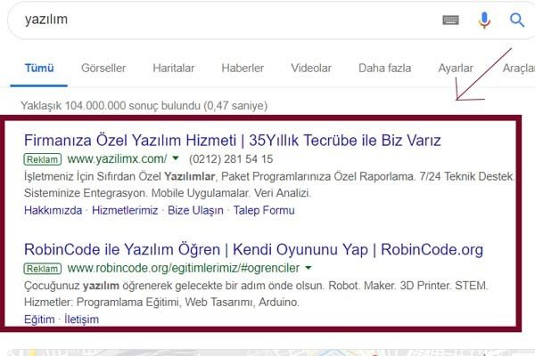 SEM (Search Engine Marketing) Nedir ? 4